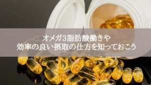 オメガ3脂肪酸働きや効率の良い摂取の仕方を知っておこう